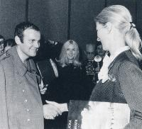 With princess Paola in a Brussels theater, 1966
