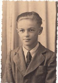 As a young man (around 1944)