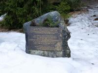 Pomník převaděčům u Františkova u Kvildy