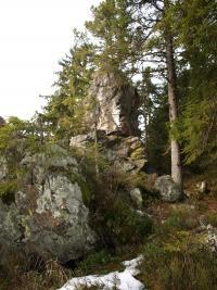 Františkov - skalní útvar Pivní hrnec - zde na Kiliána čekali