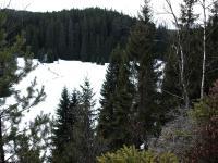 Pohled z plošiny Pivního hrnce do údolí