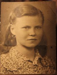 Miloslava Žáková krátce po válce
