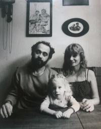 John Bok s rodinou