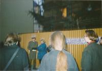 Demonstrace za zásobování hygienickými potřebami v listopadu 1989