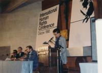 Alexandr Vondra na konferenci o lidských právech v Krakově