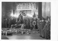 Funeral of Hana Benešová, Prague - Strašnice 7.12.1974