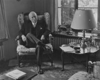 President Beneš in his office in Sezimovo Ústí