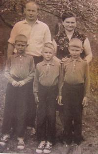 Helena Kociánová s manželem a dětmi
