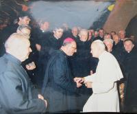 Při setkání s papežem Janem Pavlem II