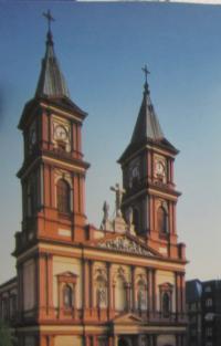 Katedrála Božského Spasitele v Ostravě, kde působil P. Josef Freml