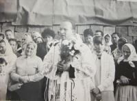Oslavy k první oficiální slavnostní mši (primice) P. Josefa Fremla v Šumicích 13. července 1969