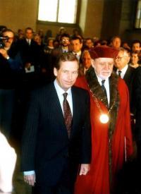 Radim Palouš a Václav Havel