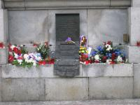 Liberec, náměstí Edvarda Beneše, památník obětem 21. 8. 1968