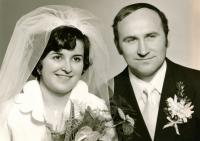 Newly married couple Mr. and Mrs. Bartošek - 70´s