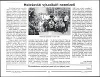 Newsletter article about parachutists of Holešov written by Josef Bartošek