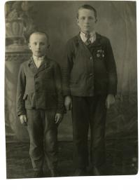 Bohuslav Andrš with his brother Vladimir