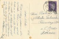 Dopis své milé (zadní strana pohlednice)