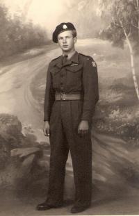 Adolf Kaleta v době, kdy bojoval u Dunkerque