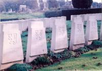 Vojenský hřbitov v St. Omer - Francie. U Dunkerque padlo 199 vojáků a důstojníků československé zahraniční armády.