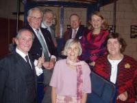 Bálint Ordódy (left) with her wife Marthe de Levis de Mirepoix (right) in the English Speaking Union, 2005