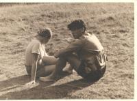 Anna Fidlerová s Lorisem Sušickým 1938