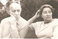 Anna Fidlerová s manželem Josefem Fidlerem 1987