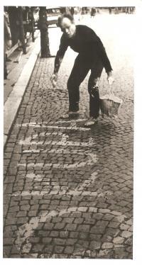 Manžel Josef Fidler, Karlovy Vary 21.8.1968