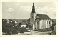 Pohlednice vlasatického kostela