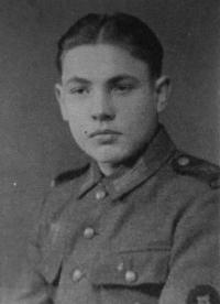 František Žebrák as a soldier of the Wehrmacht in 1944