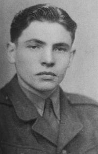František Žebrák as a soldier of the Czechislovak People's army in 1949