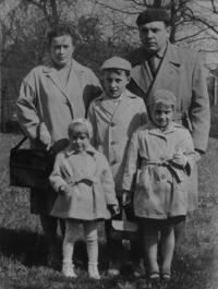 František Žebrák with his family in 1966