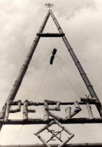 Gate of the Scout camp in 1946