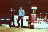 Mistrovství světa v Barceloně 1985. Jiří Beran s vítězem, francouzem Boise