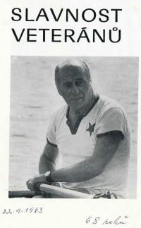 Svatopluk Lacina, Vladkův otec na slavnosti veteránů, 22.9.1983