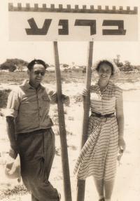 Barnea Magda with husband 1955-7