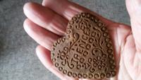Srdce z chleba vyrobený v Terezíně od maminky Ireně
