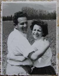S manželem v padesátých letech