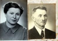 Her parents after the war