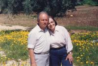 With husband Asher Bar-On, 1994