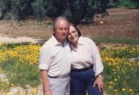 S manželem Ašerem Bar-Onem, 1994