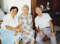 S maminkou a bratrem Felixem 1987