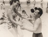 With husband Asher Bar-On, 1960