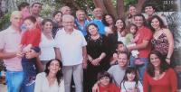 Rodina Evy Erbenové v Izraeli. Uprostřed Eva s manželem Petrem. Ashkelon,  2006
