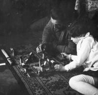 Eva Erbenová s tatínkem, cca. 1934-1935