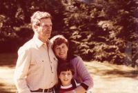 Petr, Eva a Amir Erbenovi, Izrael 1979