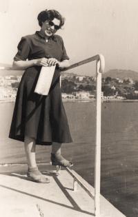 Eva Erbenová na cestě do Izraele, Bandol 1949