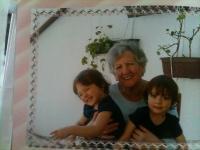 Věra Weberová and grandchildren