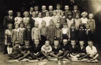 School in Olbramovice, 1st and 2nd class, cca 1938