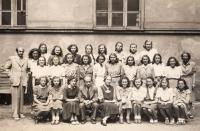 College in Vodičkova St., Hana first from right at first row