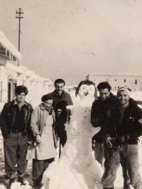 Snow in Ha-Chotrim, 1950